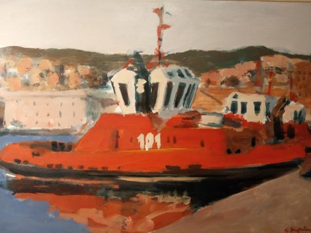 Giorgio Dapino, Nave, Öl auf Leinwand, verschiedene Größen
