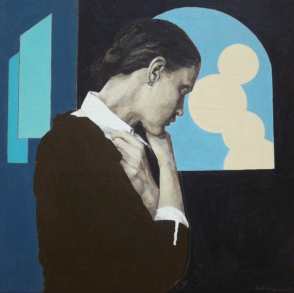 Petrova_Good night_Öl auf Leinwand_60x60 cm