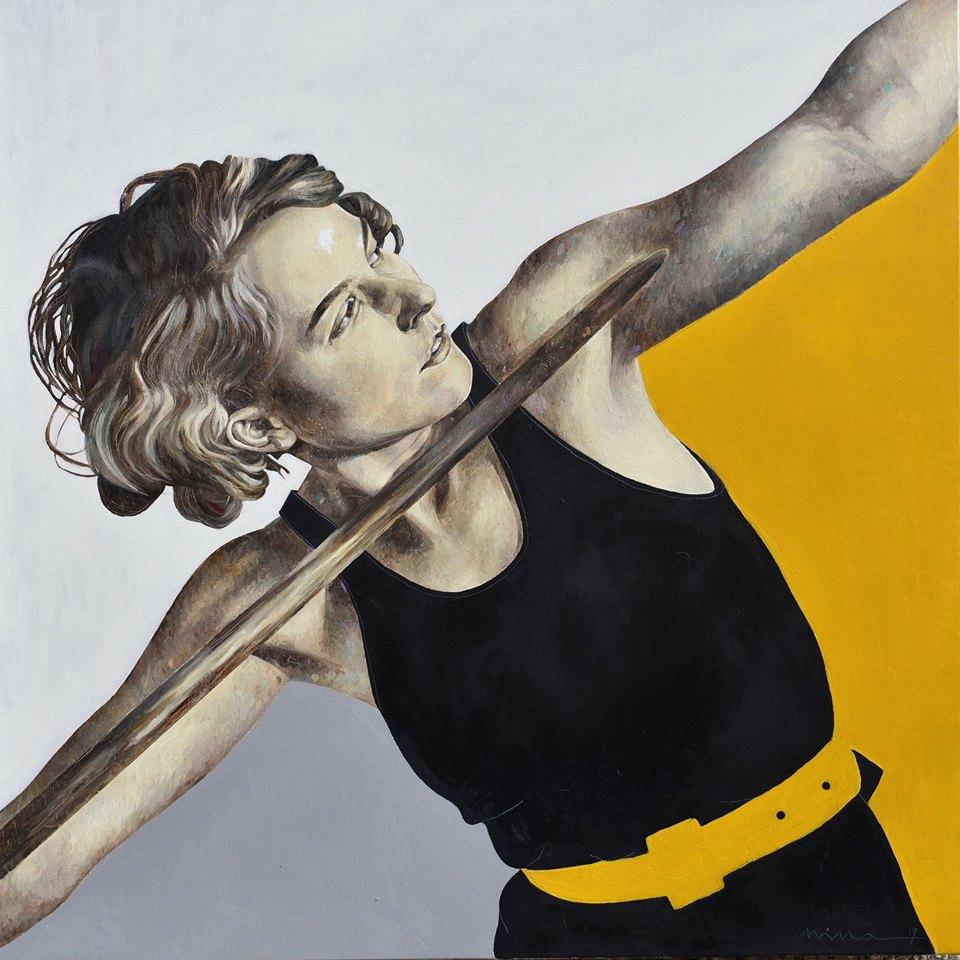 Petrova_Verve, Öl auf Leinwand, 80 x 80 cm