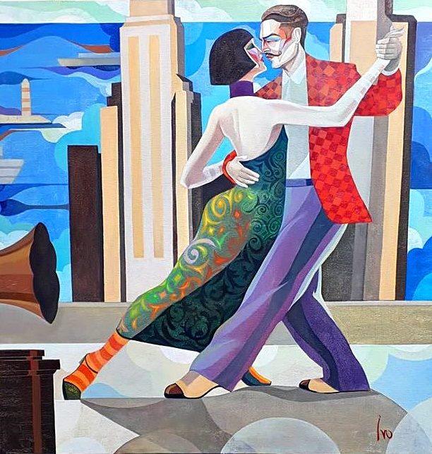 Petrov_Dance on the roof_Öl auf Leinwand_80x80 cm