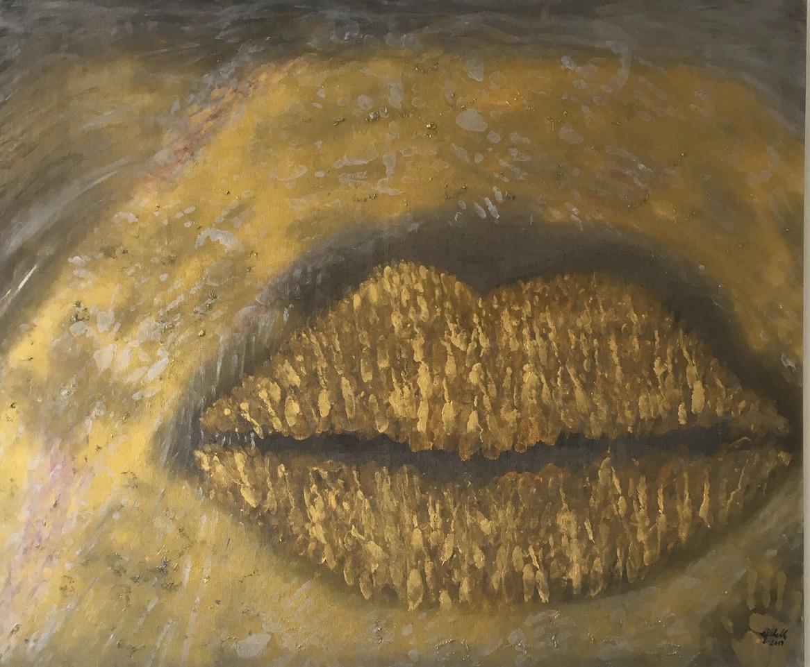 Ditrich_Die goldene Lippe_120 x 100 cm