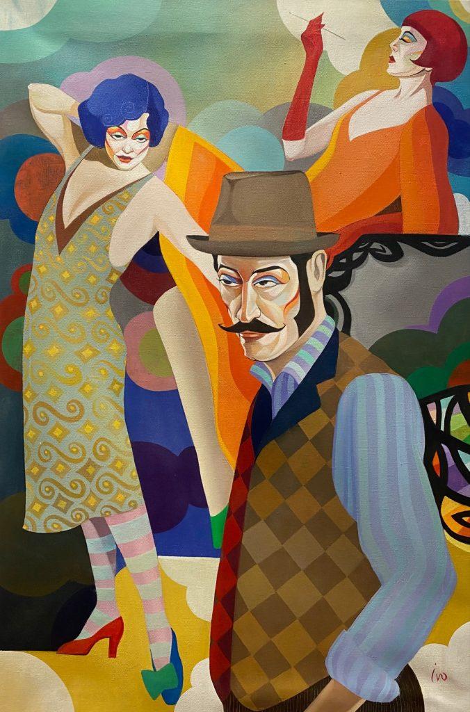 Petrov_The dilemma of the artist, Öl auf Leinwand, 80 x 80 cm