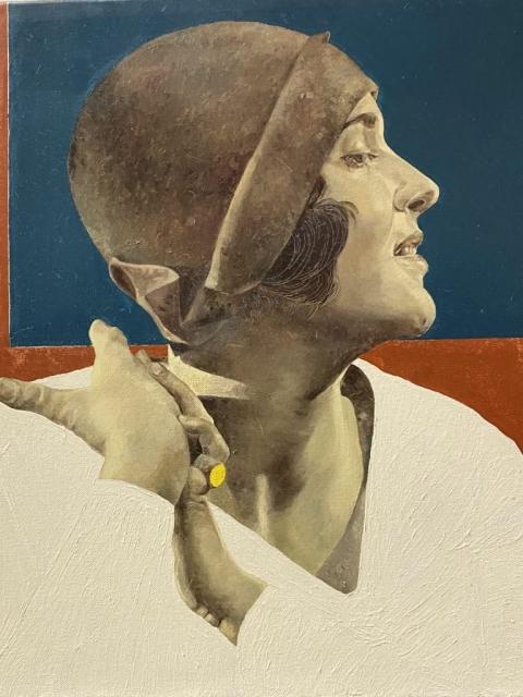 Petrova_Mezta, Öl auf Leinwand, 35 x 35 cm