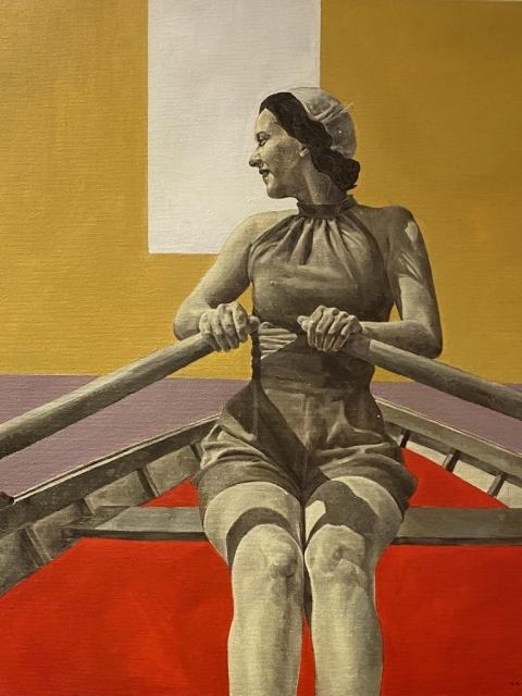 Petrova_Joy, Öl auf Leinwand, 50 x 50 cm
