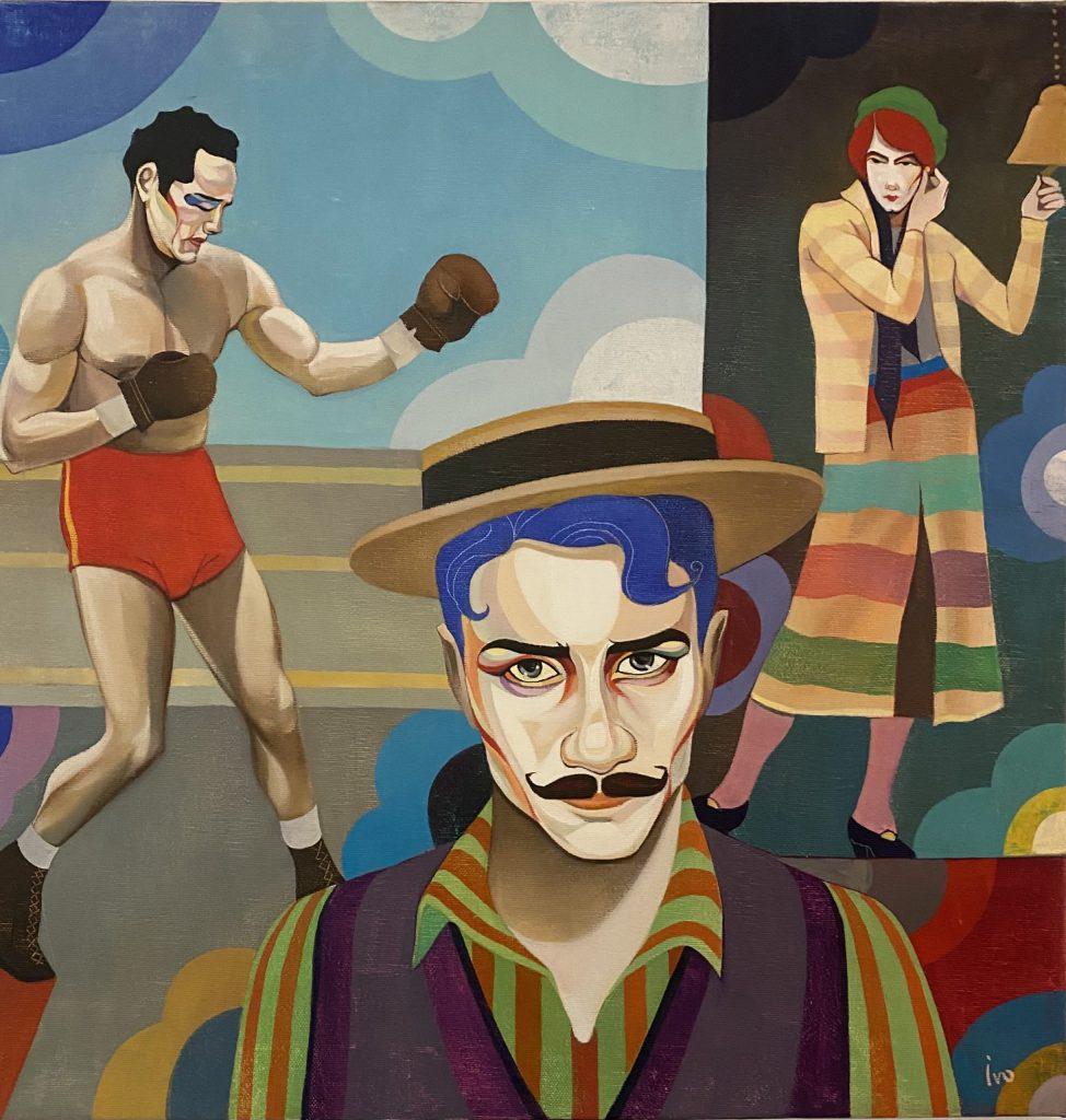 Petrov_Gypsy scene, Öl auf Leinwand, 50 x 50 cm