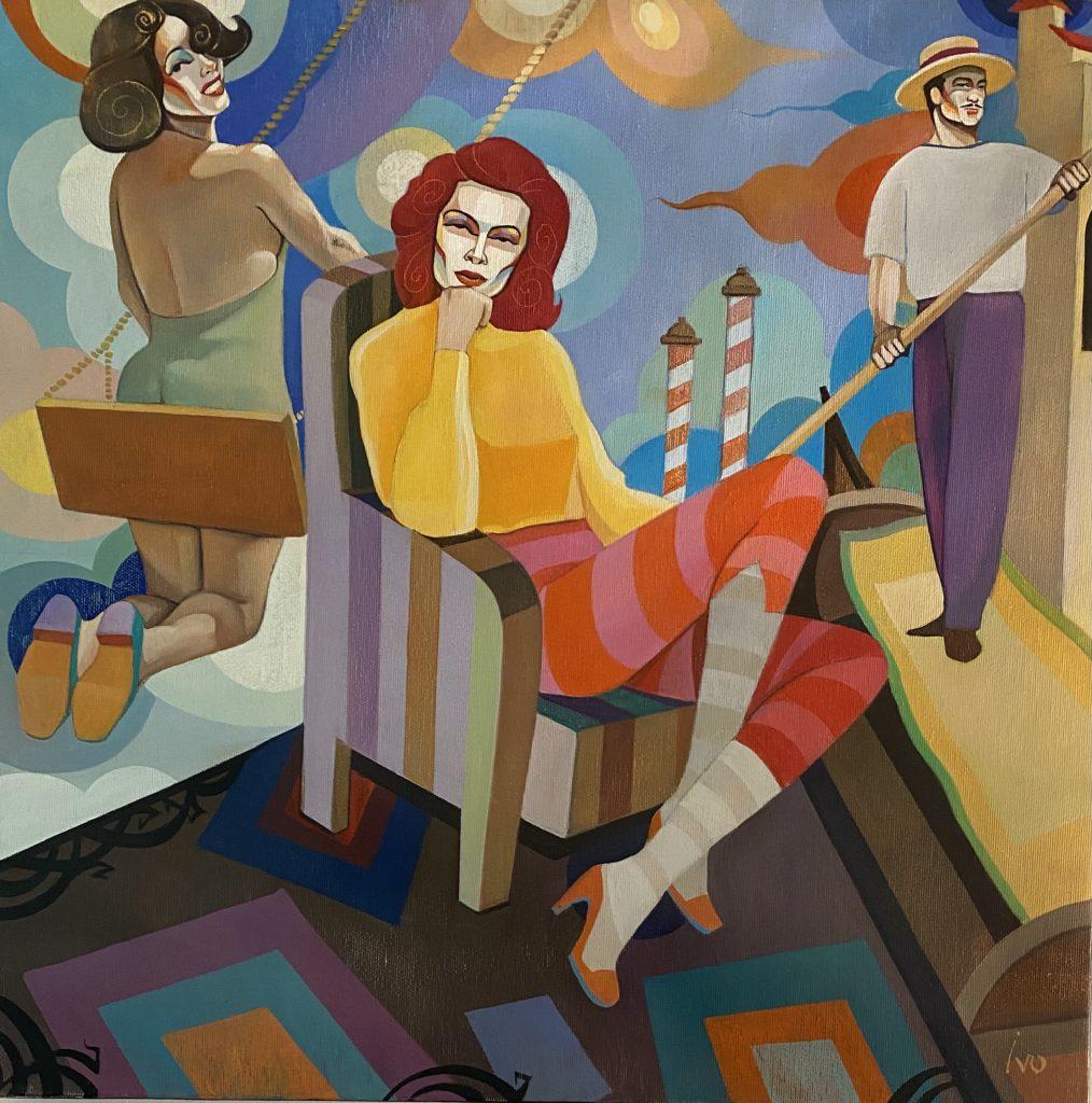 Petrov_Surprise, Öl auf Leinwand, 35 x 35 cm
