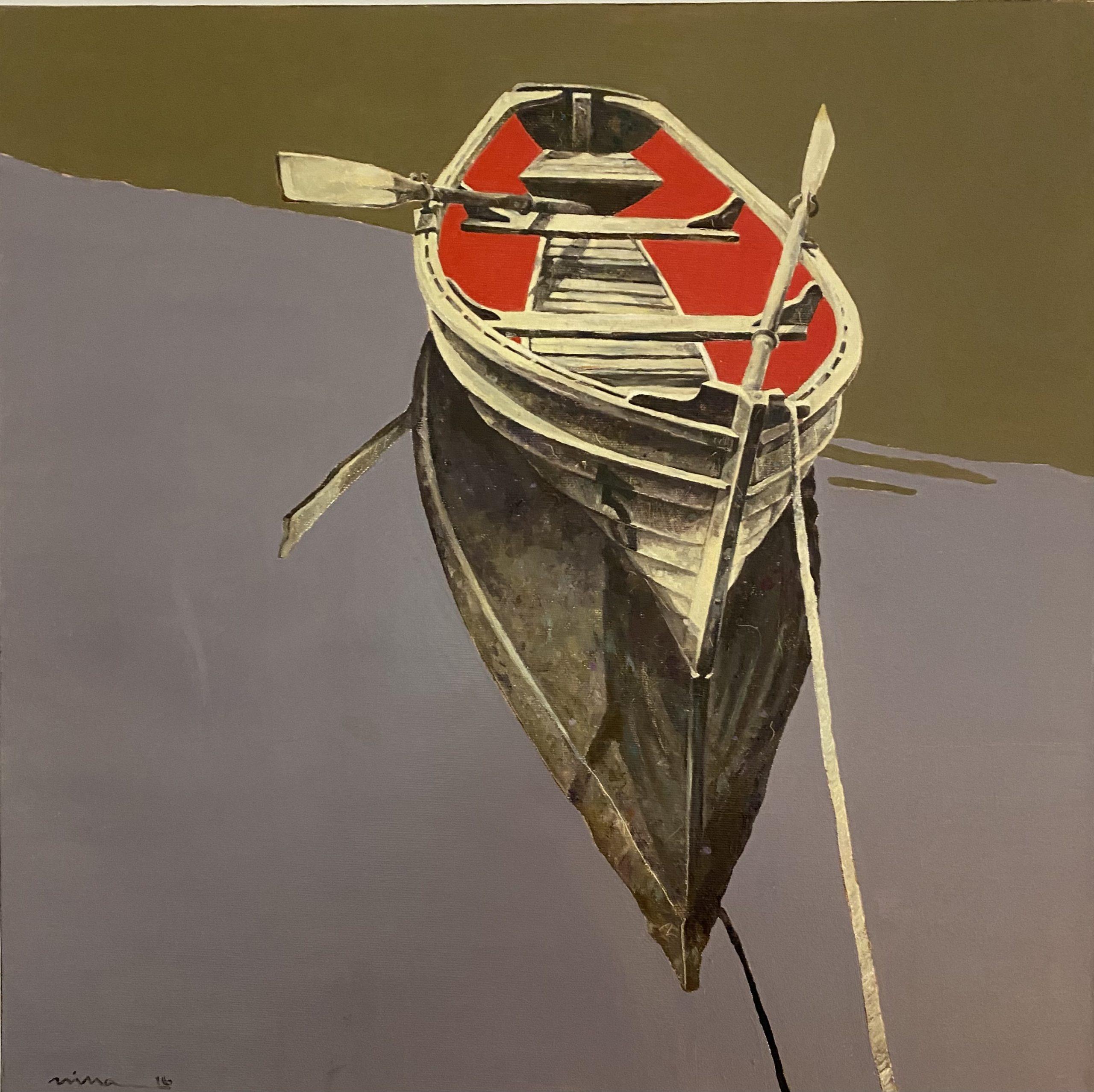 Petrova_Loneliness, Öl auf Leinwand, 50 x 50 cm
