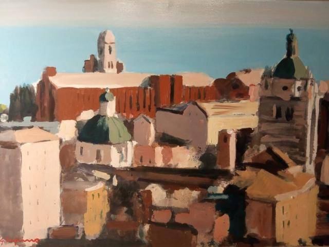 Giorgio Dapino, Genova, Öl auf Leinwand, verschiedene Größen