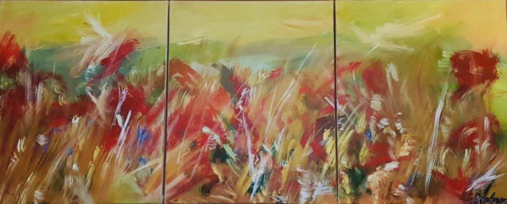 Brandner_Sommer_Triptychon_150x60 cm
