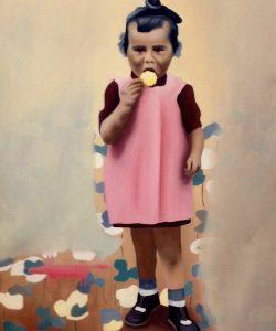 Little girl, Öl auf Leinwand, 50x60 cm