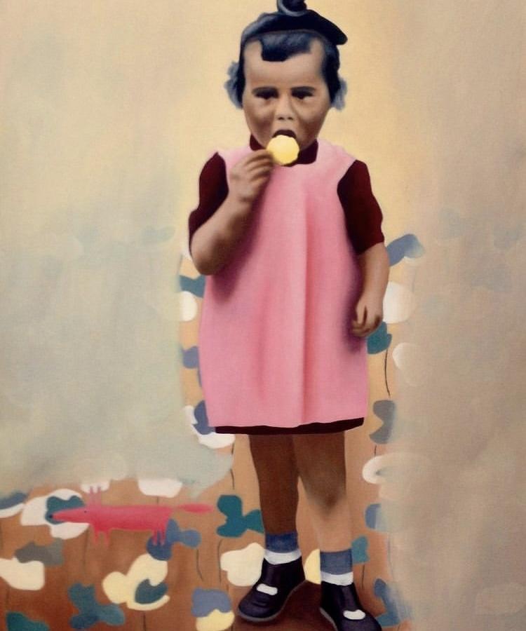 Aragall_Little girl, Öl auf Leinwand, 50x60 cm