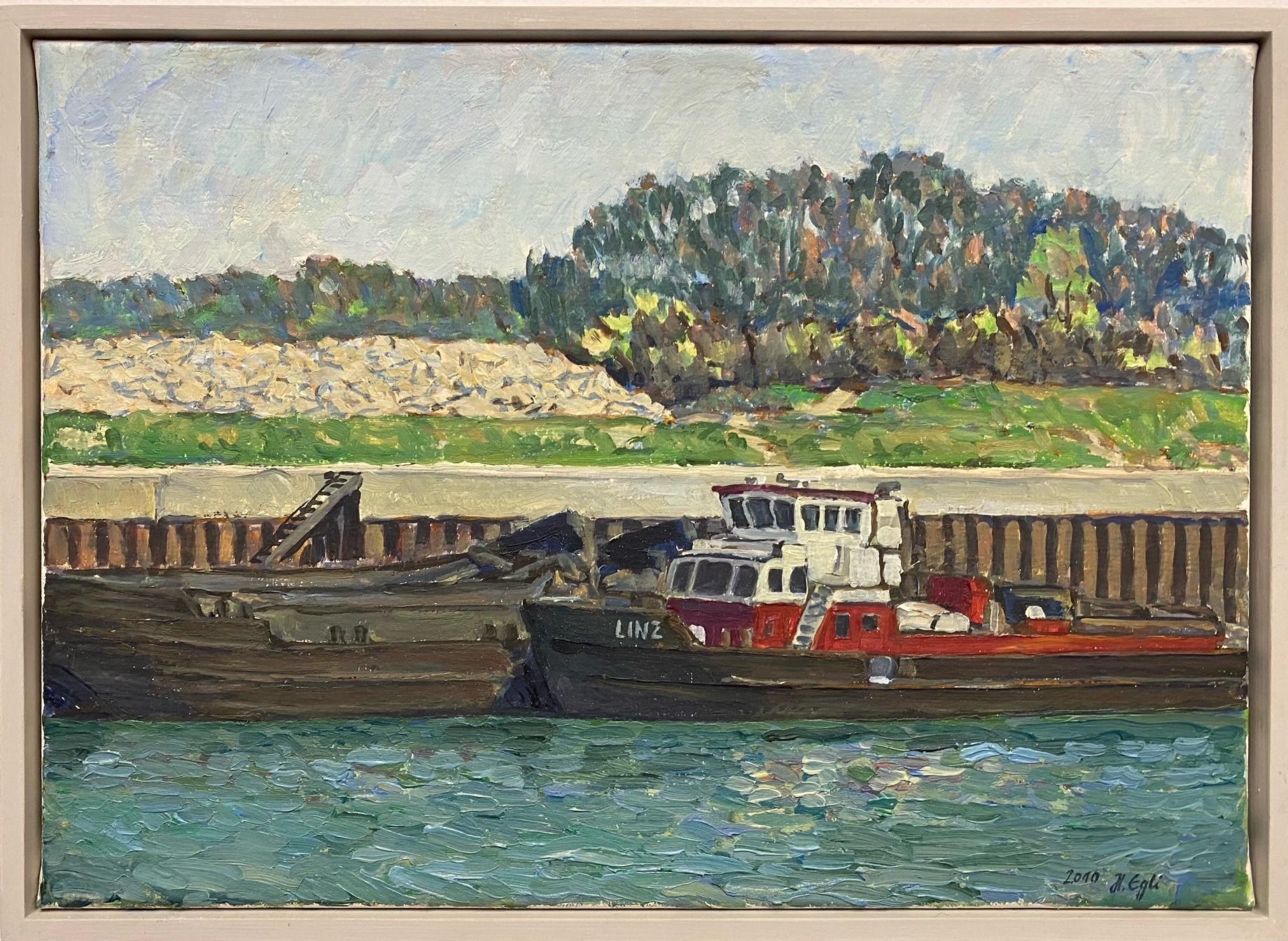 Egli_Freudenauer Hafen I, Öl auf Leinwand, 35 x 25 cm, 2010