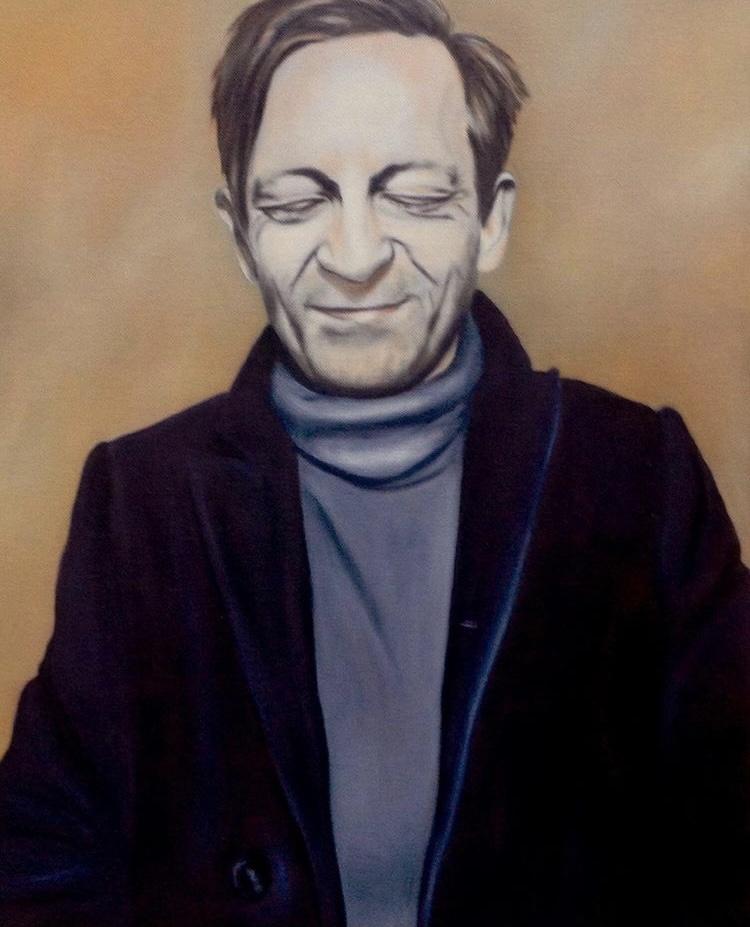Michael Borremans, Öl auf Leinwand, 30x30 cm