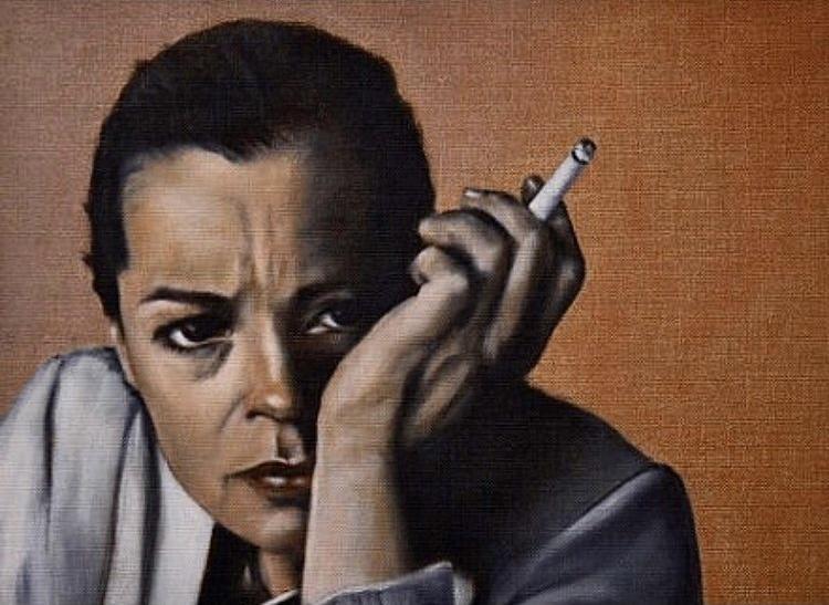 Romy Schneider, Öl auf Leinwand, 40x30 cm