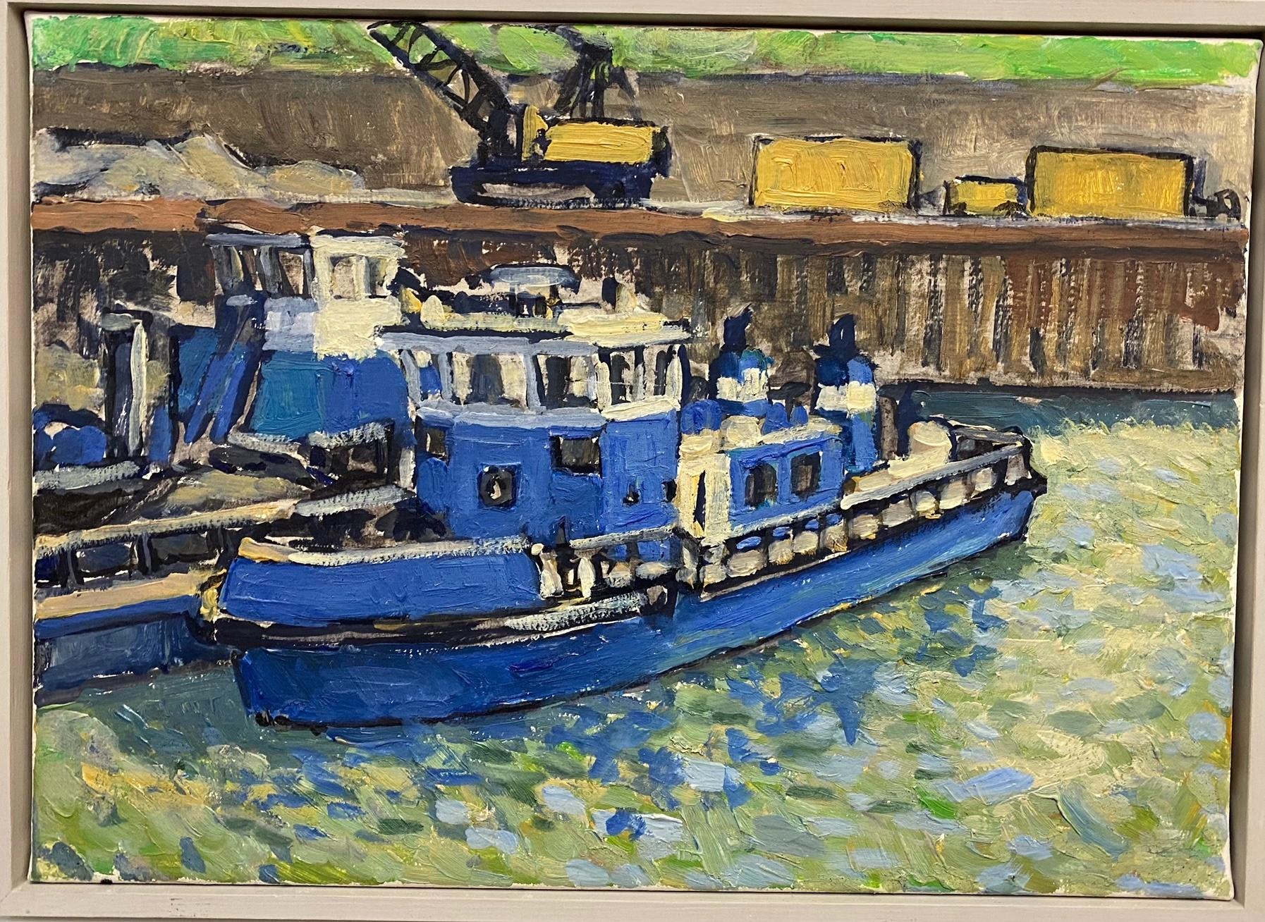 Egli_Freudenauer Hafen III, Öl auf Leinwand, 35 x 25 cm, 2010