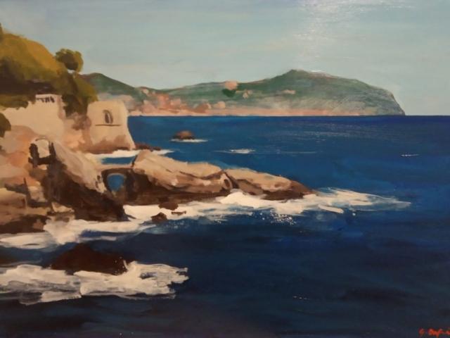 Giorgio Dapino, Paesaggio costiero, Öl auf Leinwand, verschiedene Größen
